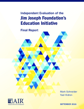 Independent Evaluation of the Jim Joseph Foundation's Education Initiative Final Report