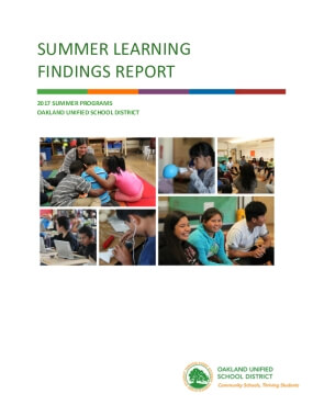 Summer Learning Findings Report: 2017 Summer Programs