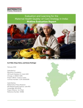 Evaluation and Learning for the Maternal Health Quality of Care Strategy in India: Phase II Report