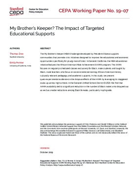 My Brother's Keeper? The Impact of Targeted Educational Supports