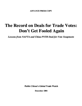 Record on Deals for Trade Votes: Don't Get Fooled Again - Lessons from NAFTA and China PNTR Deal-for-Vote Swapmeets